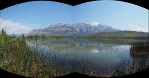 Lake Along Alaskan Highway Pan 1