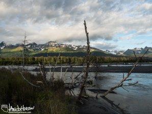 Beautiful light and scenery outside of Seward, Alaska.