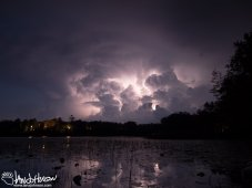 The lighting synapses and explodes within this cloud at the edge of a front.