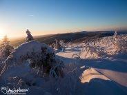 A winter world on top of Murphy Dome, Alaska.