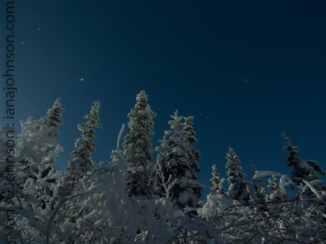 Full moon night at Fort Yukon,AK