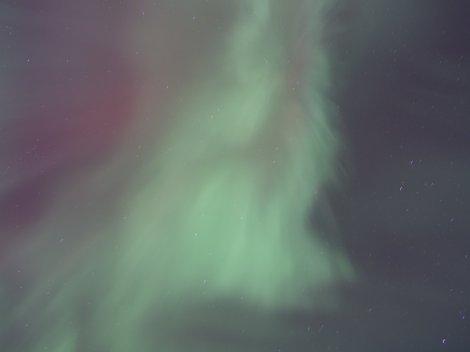 Overhead aurora over the Tanana River, Fairbanks, AK. kP5 02/28/14