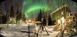 Sustainable Village Aurora Borealis Panorama 1