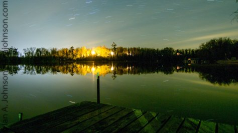 This image is a single 8 minute exposure. The stillness of the night reflected the spinning stars captured above.