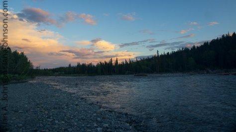 A simple but beautiful sunset at the Gulkana River.