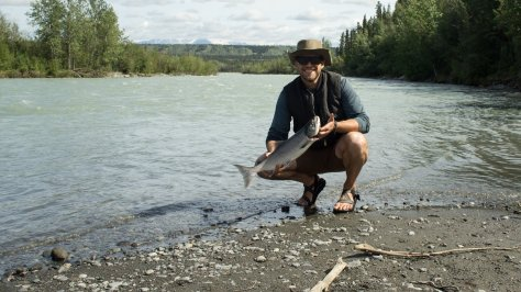 I drug in this Klutina River Red on my 5 weight fly rod - unfortunately, that rod broke too! :|