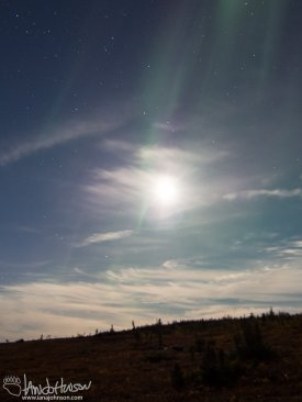 The moon and the Aurora!