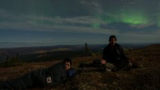 Jiake and I hanging out under the Aurora.
