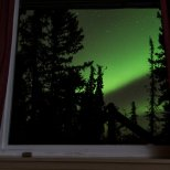 October 16th : Aurora Borealis through my window.