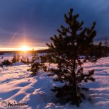 January 13th : My first sunset since returning to Alaska because of clouds the previous days