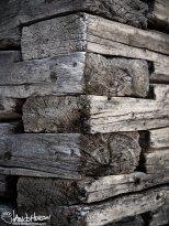 February 3rd : Wood siding on the authentic sod hut at University of Alaska Fairbanks.