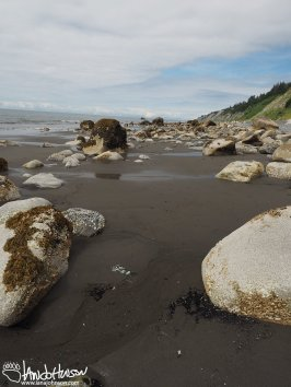 (1) The sand flats in between the rocks may holder larger treasures....