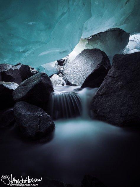 Inside Mendenhall Glacier, Juneau, Alaska