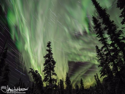 Aurora Star Trails Collosus