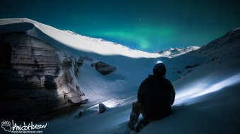 Watching the tail end of the display of Northern Lights, approximately 2AM