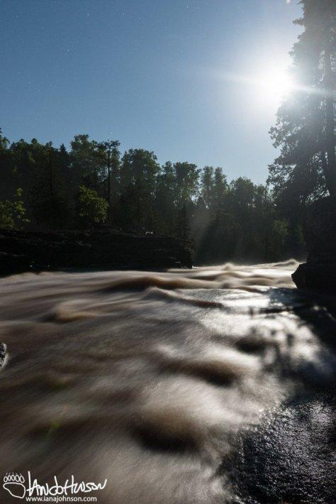 Summer Solstice, Full Moon, Gooseberry Falls State park