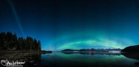 Proton Arc, Aurora Borealis, Hoonah, Alaska, Milky Way