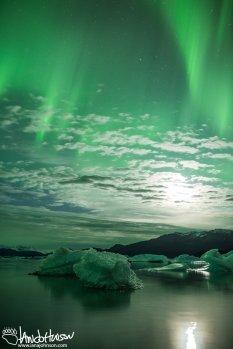Yakutat Glacier, Aurora, Iceberg, Northern Lights, Alaska