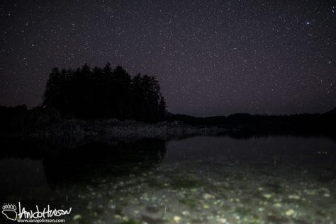 Ocean, Light Painting, Stars