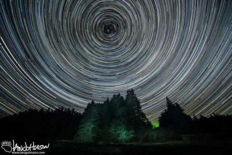 Star Trails, Hoonah, Alaska, Light Painting