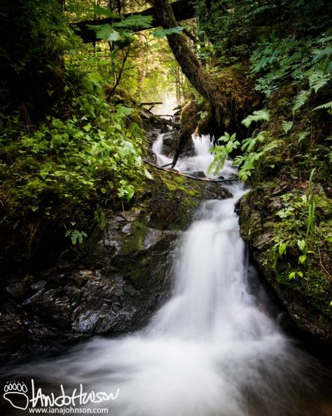 Cascade, Hoonah, Alaska, River, Long Exposure, Waterfall, Lighting