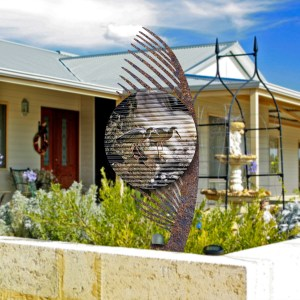 Corrugated Garden Art
