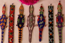 Fancy beadwork decor