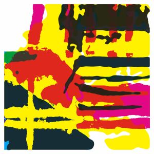 Abstract Digital print in bright colours
