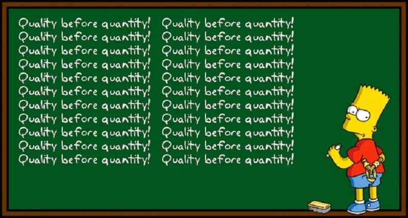 content marketing metrics is about quality - not quantity