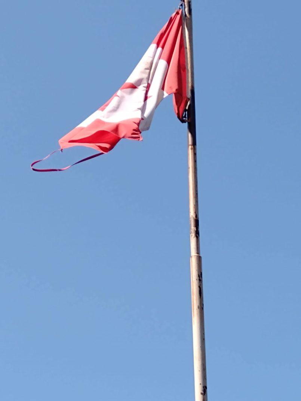 Flag at Friendship Park