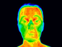 Non-contact body heat monitored by EBT Kiosk