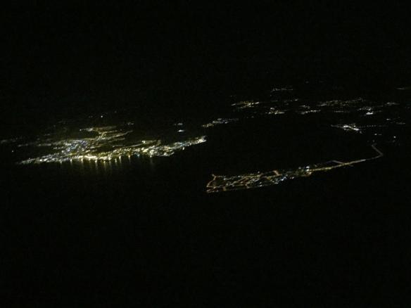 А это уже Тенерифе-Юг ночью.