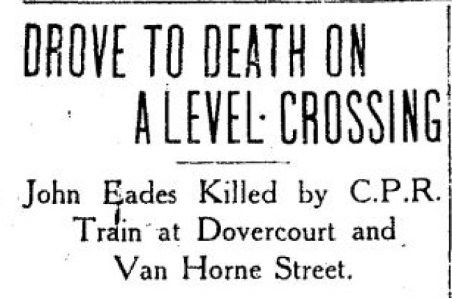 EADES John newspaper article death after hit by train 3 Mar 1913 - Copy
