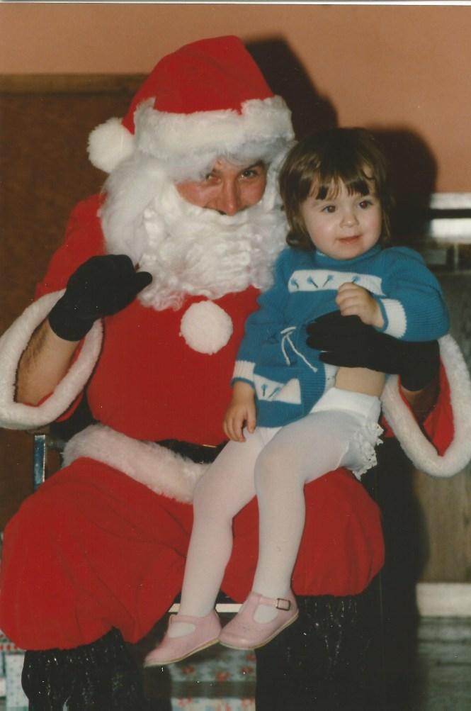 HADDEN Jenna with Santa 1990