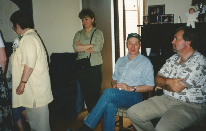 HADDEN Ian with Ellen Johnny and Teresa Burke April 2000