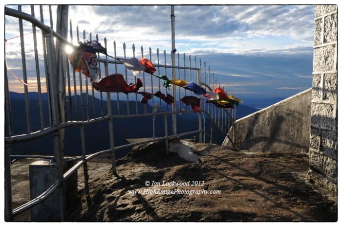 Temple summit on Sri Pada looking east.
