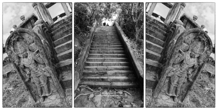 Steps & guardstones at Thiriyai... a collection of angles and views.
