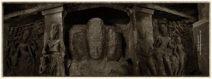Mahesh Murti composite panoramic image.