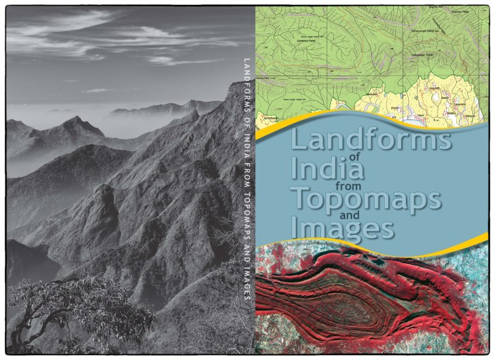 Cover from Landforms of India book (published in July 2014). The image on the left is the view of the southern escarpment of the Palani Hills.