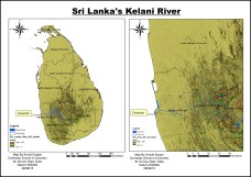 DP 1 Geography EE map of the Kelani river basin by Arnold (OSC Class of 2016)