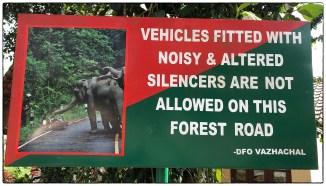 Signage at the Tamil Nadu Kerala border.