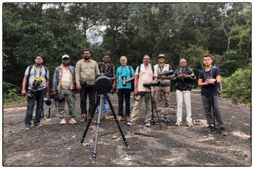 Madras Photographic Society with Lenny on a short hike through Thattekad's primary forest.