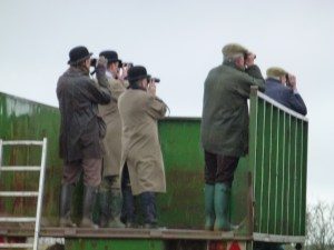 Sighting of local tribesfolk at the Mollington point-to-point