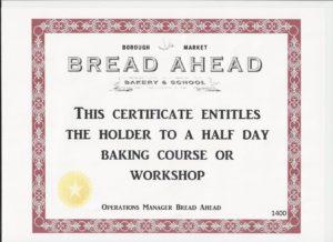 Bread Certificate