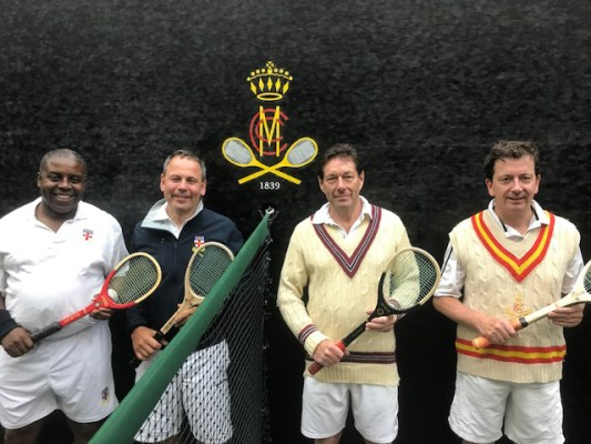 Early and late arrivals at the MCC real tennis ball f9b26db9ebf65