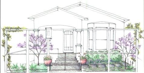 Bellomo Front Yard Sketch