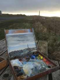 Painting dawn over St Just