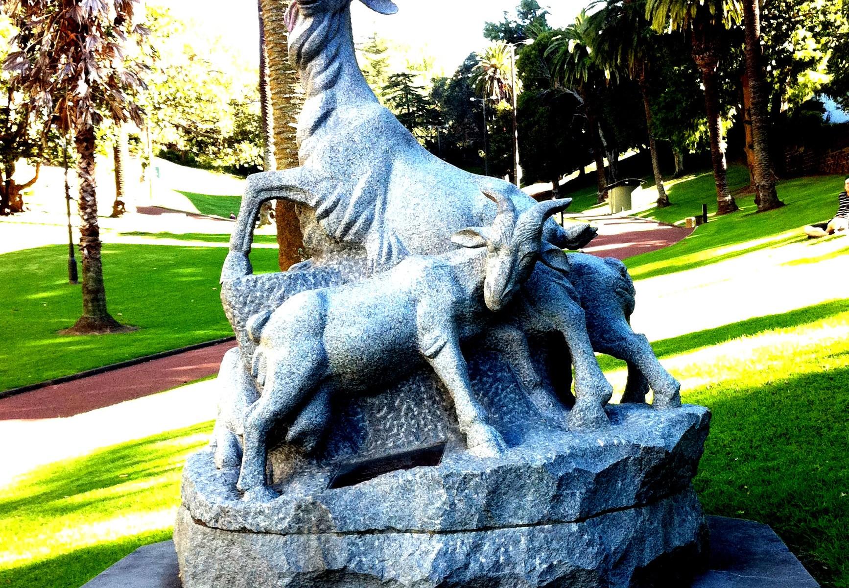 The Five Rams Sculpture Meyers Park