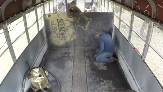 School Bus Floor Removal Process