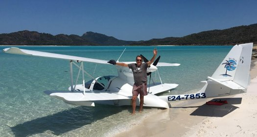 fred and his sea plane